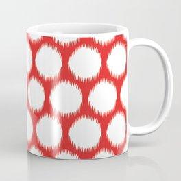 Red Asian Moods Ikat Dots Coffee Mug
