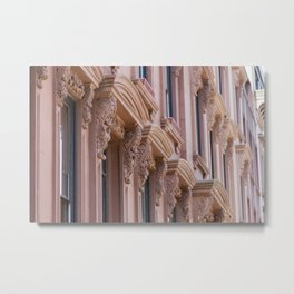 Brooklyn Brownstone Metal Print
