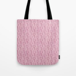 Soft Pink Knit Textured Pattern Tote Bag