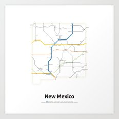 Highways of the USA – New Mexico Art Print