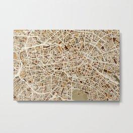 Berlin Germany Street Map Metal Print