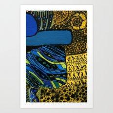 town by the ocean Art Print