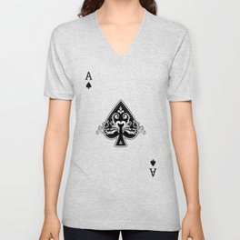 Ace of Spades Unisex V-Neck