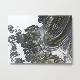 Ducat Waterfall (3D Digital Fractal Art) Metal Print