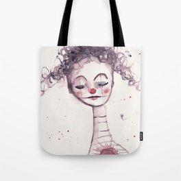watercolor clown Tote Bag