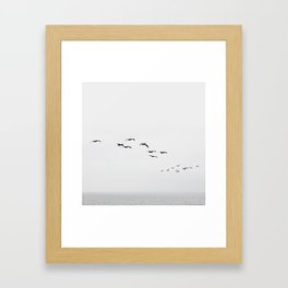 Flight + Ocean Beach + SF Framed Art Print