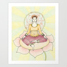 Centered in Peace Art Print