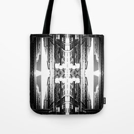 Double Vision from Michigan Avenue, Chicago Tote Bag