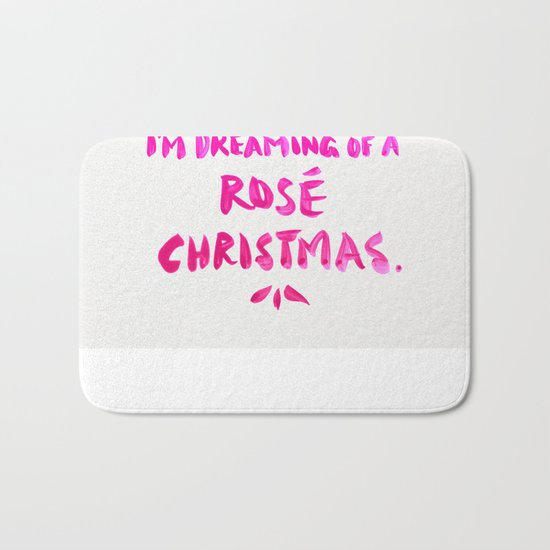 Rosé Christmas Bath Mat