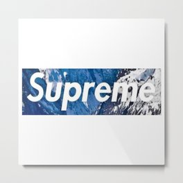 supreme x TNF Metal Print