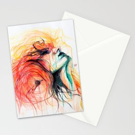 Metamorphosis-Bird of paradise Stationery Cards