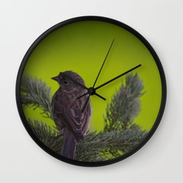 Feathered Friend Wall Clock