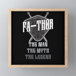 Fa-Thor The Man The Myth The Legend Framed Mini Art Print