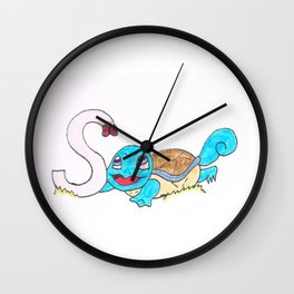 S is for Squirtle Wall Clock