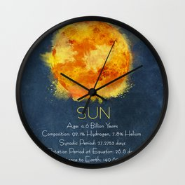 Sun info poster Wall Clock