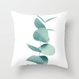 Eucalyptus Green Vibes #1 #foliage #decor #art #society6 Throw Pillow
