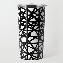 Grid Line Bulge Travel Mug