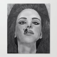 lana del rey Canvas Prints featuring Lana  by Char Stefanski