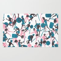 war Area & Throw Rugs featuring War by James White