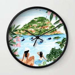 Somewhere in Italy Wall Clock