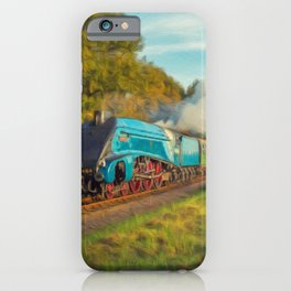 Mallard Steam Locomotive iPhone Case