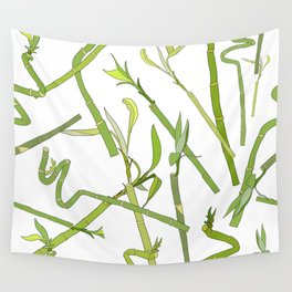 Scattered Bamboos Wall Tapestry