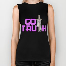 Creative simple tee design made perfectly for your faith. Makes a nice gift for everyone!  Biker Tank