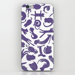 Ultra Violet Cats iPhone Skin