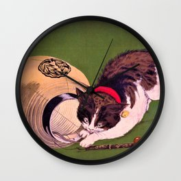 Kobayashi Kiyochika - Top Quality Art - Lantern and Cat Wall Clock