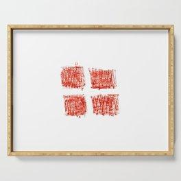 flag Switzerland 4-,Swiss,Schweizer, Suisse,Helvetic,zurich,geneva,bern,godard,heidi Serving Tray