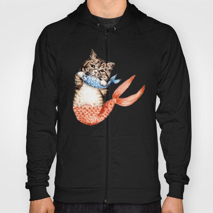ed70bccc1 Cute Purrmaid Cat Mermaid Hoody by evgeniya | Society6