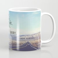 kerouac Mugs featuring Kerouac - Travel Edition by Altgasse Designs