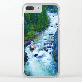 Astoria River in Jasper National Park, Canada Clear iPhone Case
