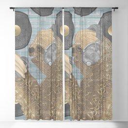 Sloth Records Sheer Curtain