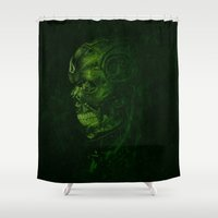terminator Shower Curtains featuring The Terminator - Version 2 by Mark A. Hyland (MAHPhoto)