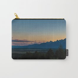 Sunset over the Grand Tetons Carry-All Pouch