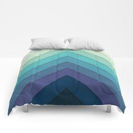 Retro Chevrons 001 Comforters