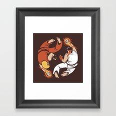 Super Yin Yang Framed Art Print