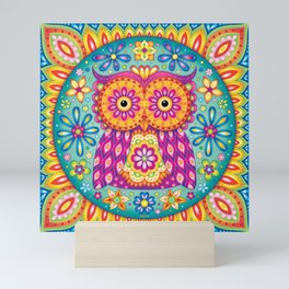 Owl Mandala Mini Art Print