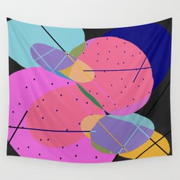 Random Thoughts I - Abstract, minimalist, scandinavian pop art Wall Tapestry