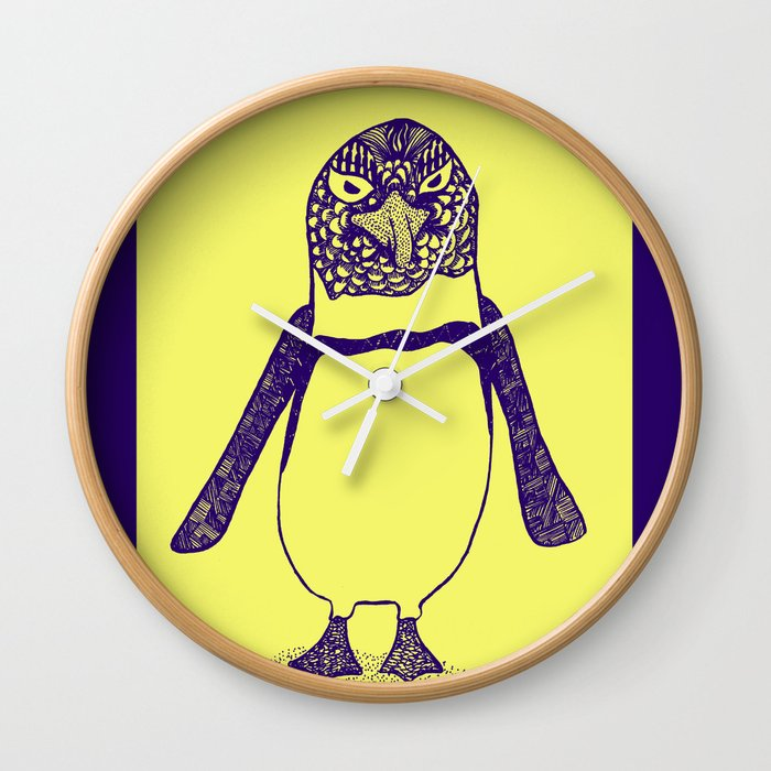 Somewhat of a Jackass Penguin Wall Clock
