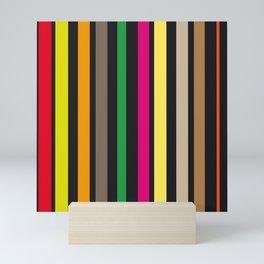 bold stripes and color Mini Art Print