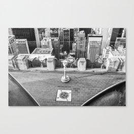 Viewfinder at Rockefeller Center rooftop Canvas Print