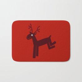 Reindeer-Red Bath Mat