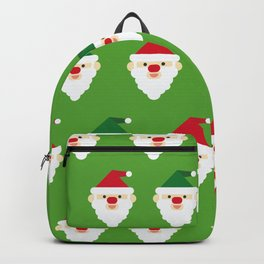 Christmas Santa Clause Wallpaper Christmas Pattern Backpack