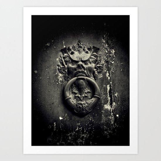 Knock if you dare! Art Print
