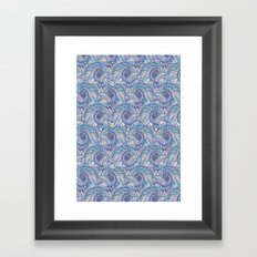 Peacock Swirl - original Framed Art Print