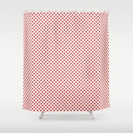 Grenadine Polka Dots Shower Curtain
