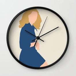 Girl in Blue Dress - Fashion Illustration Wall Clock