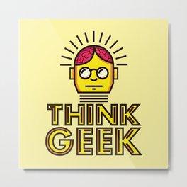 Think Geek Metal Print